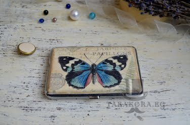 Табакера с пеперуда за 100мм
