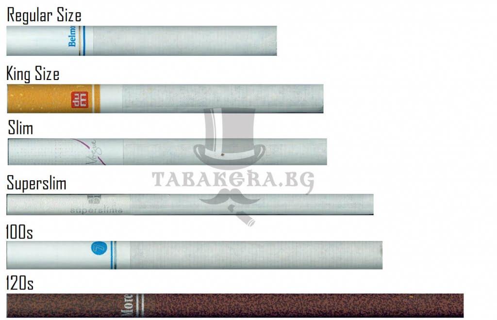 razlichni razmeri na cigari