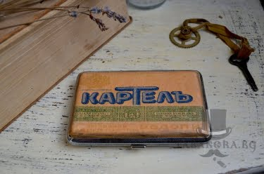 retro tabakera cigari kartely