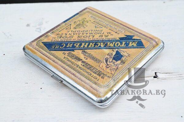 tabakera za kysi cigari 80mm zlateny levy