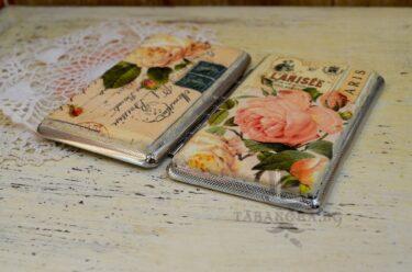 tabakera dekupaj rozi i nadpisi