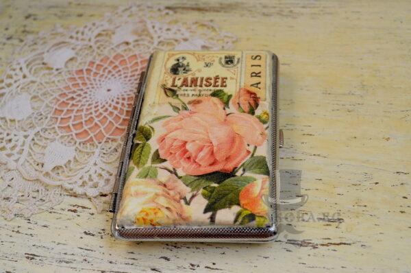 tabakera romantichen stil s rozi vintidj